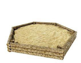 Chidrens Hexagon Shaped Sand Box 3D