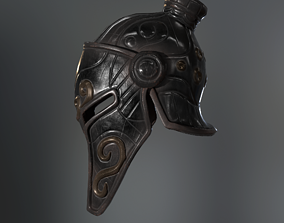 Knight Helmet 3D asset VR / AR ready