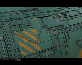 3D model Scifi Wall Panel Texture Set F