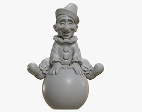 3D printable model Clown on the Ball Statuette toy