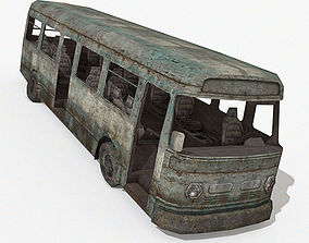 3D model Damaged Bus
