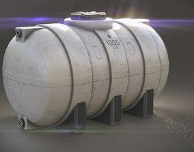 WATER TANK 3D model game-ready PBR