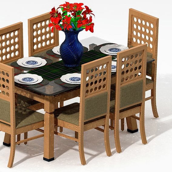 Royal Wooden Dinning Table Set