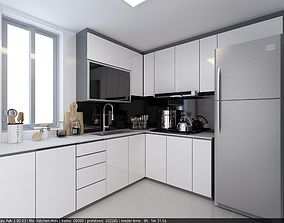 3D Kitchen 4 - fast render vray settings kitchen-dininig