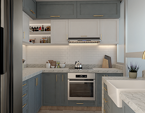 Classic kitchen cabinet 3D print model