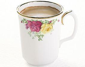 3D model Flowered Porcelain Cup