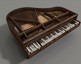 Old Piano 3D asset realtime