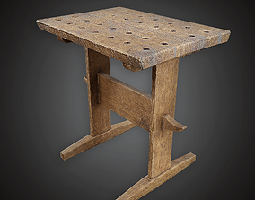 3D model MVL - Workmans High Table - PBR Game Ready