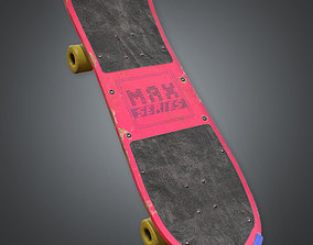 3D asset Skateboard Retro 80s