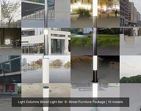 Light Columns Street Light Set -9- Street 3D model 1