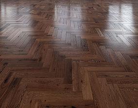 3D Oak Herringbones dark floor 3