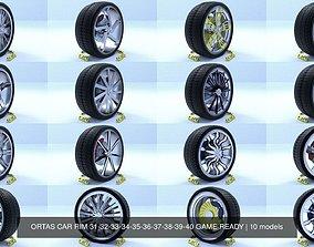 ORTAS CAR RIM 31-32-33-34-35-36-37-38-39-40 GAME READY 3D