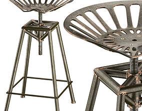 3D Charlie Industrial Metal Design Stool