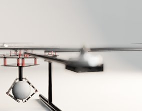 Drone 3D model animated