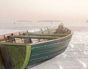3D asset wooden boat