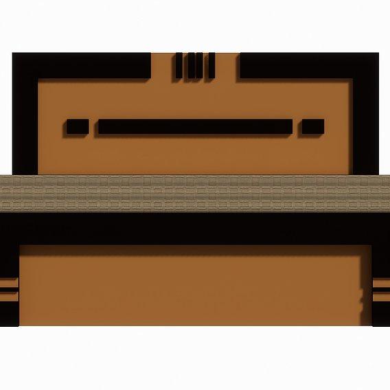 Bed Set Type-2 | 3D Model | Free