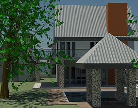 ARCHITECTURAL MODERN HOUSE 1 3D model