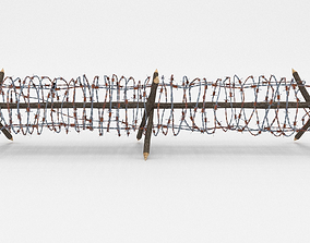 Lowpoly Barb Wire Obstacle 3D model