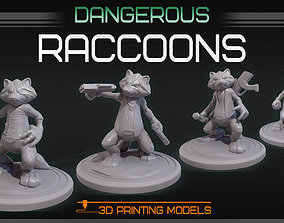 Dangerous raccoons 3D printable model
