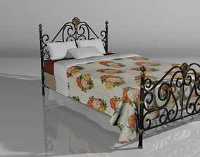 Ornate Wrought Iron Bed 3D