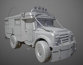 Post apocalyptic truck 3D model