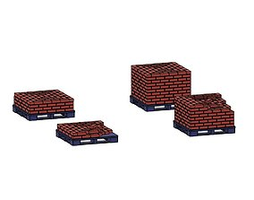 Model Railway Railroad Brick Pallet Stack