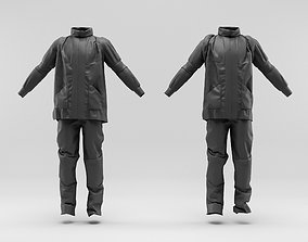 Urban outfit - jacket - pants and backpack 3D model
