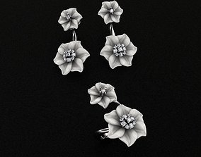 3D print model Ring and Earrings gem