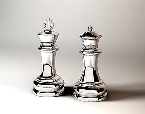 3D model Chesss Figures King Queen