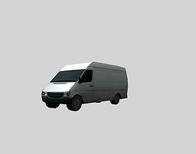 3D asset low poly van