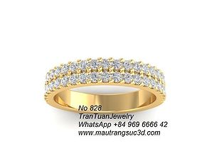 828 Diamond Ring 3D printable model