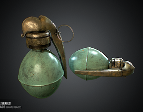 M1 French Grenade - WWI Grenade Series Game Ready 3D model