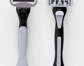 Custom razor 3D asset