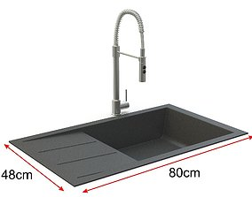 Sink with tap 3D