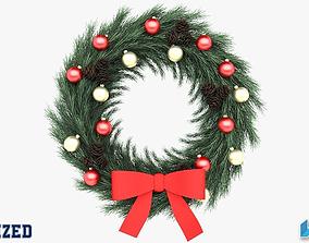 Christmas Wreath 3D model leaf