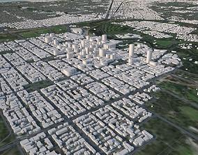 Adelaide city in Australia 3D model