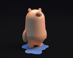 games-toys PolarBear Piggybank - 3d printable model