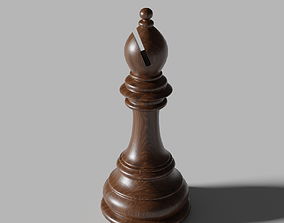 3D model VR / AR ready Bishop of Chess