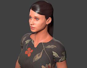 Female Generic Low Poly 3D model