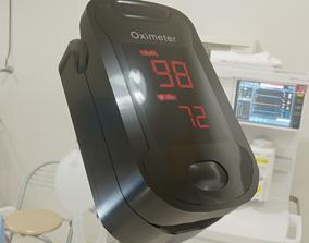 Finger Pulse Oximeter Heart Rate Reader 3D asset