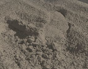 Beach Sand Footprint RAW SCAN 3D