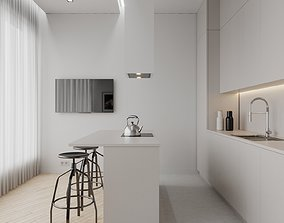 Small Apartment Scene for Cinema 4D and Corona Renderer 3D