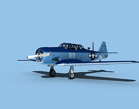 3D model North American SNJ USN V02