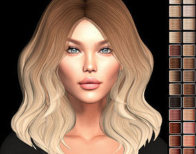 Female hair style rigged rigged VR / AR ready 2
