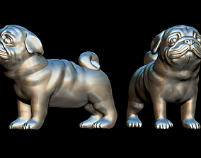 3D printable model Pug dog miniature