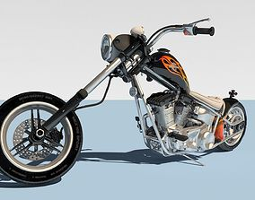 Harley Davidson Chopper 3D model
