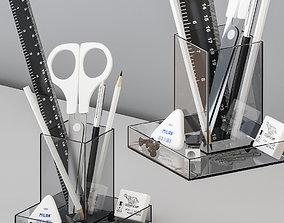 3D model Office Supplies Accessories Set