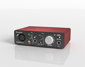 3D model Sound card Focusrite Scarlett Solo 2nd