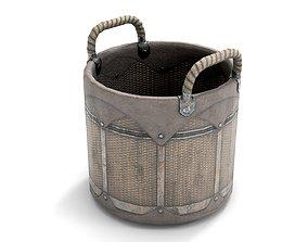 3D model Wicker Grocery Basket