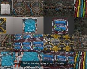 PBR sci fi detailed tileable textures 3D